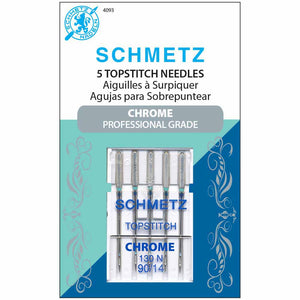 SCHMETZ #4093 Chrome Topstitch - 90/14 - 5 count