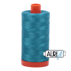 4182 DARK TURQUOISE  - AURIFIL 100% COTTON THREAD 50WT.