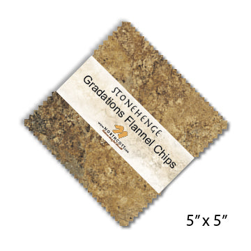 Stonehenge Gradations Flannel Chips  42- 5