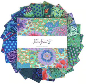 "Kaffe Fassett Collective - 10"" Charm, 42 Pieces - Ocean"
