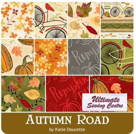 Wilmington Prints- Autumn Road 24, 2 1/2 inch strips