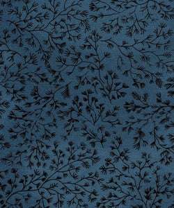 Woodland (Deep Blue) – Cotton Quilt Backings