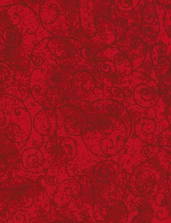 Willow (Red) – Flannel Quilt Backings