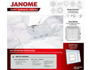 JANOME ACUFIL QUILTING KIT (ASQ18b)