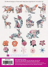 Anita Goodesign Floral Animals - Full Collection