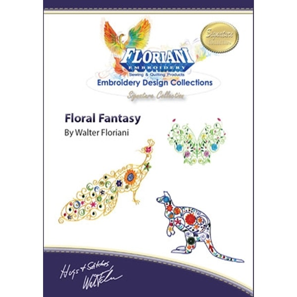 Floriani Embroidery Design Collection - Floral Fantasy by Walter Floriani
