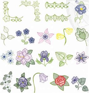 Floriani Embroidery Signature Collection - Floral Shadows