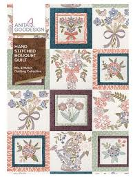 Anita Goodesign Hand Stitched Bouquet Quilt - Mix and Match Quilting Collection