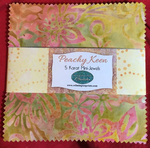 Wilmington Batiks Peachy Keen 5 karat mini-jewels