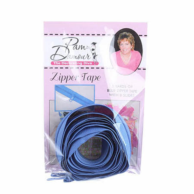 BLUE - Pam Damour Zipper Tape