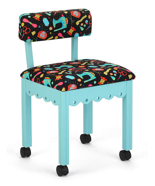 SEWING CHAIR - NOTIONS IN TEAL
