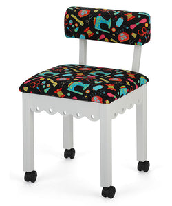 SEWING CHAIR - NOTIONS IN WHITE