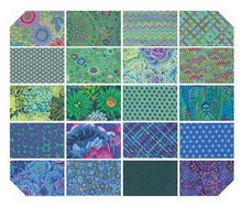 "Load image into Gallery viewer, Kaffe Fassett Collective - 10"" Charm, 42 Pieces - Ocean"