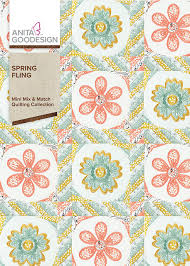 Anita Goodesign Spring Fling - Mini Mix and Match Quilting Collection