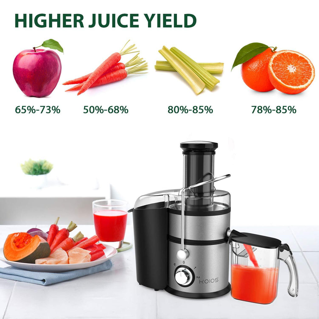 KOIOS Centrifugal Juicer Machines with Big Mouth 3 Inch Feed Chute - ValueLink Shop