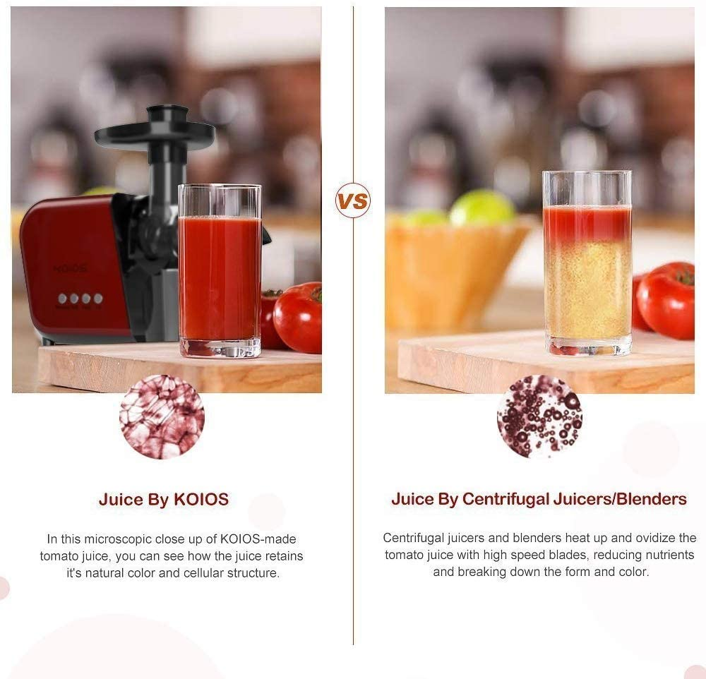 Koios B5100 Masticating Juicer Machine with Reverse Function and Quiet Motor - ValueLink Shop