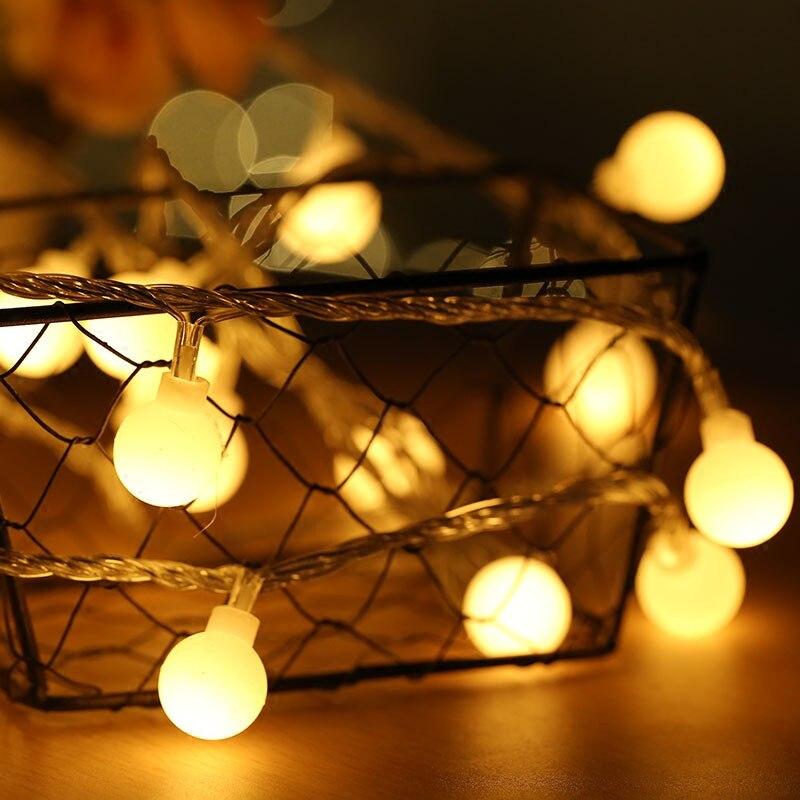 LED Ball String Lights - Villa and Oak