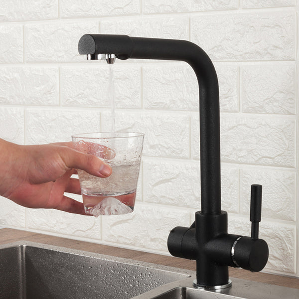 Kitchen Faucet Mixer, Dual Handle with Water Purification Tap - Villa and Oak