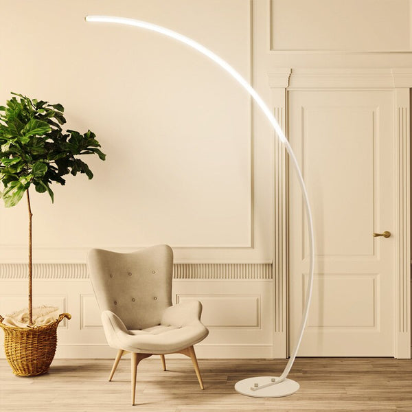 Curved LED Floor Lamp - Villa and Oak