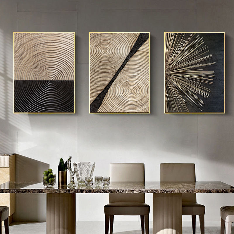 Retro Luxury Collection Stretched Canvas - Villa and Oak