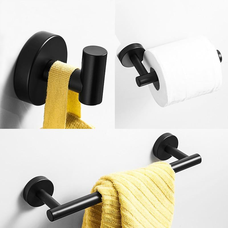 Matte Black Series Bathroom Accessories - Villa and Oak