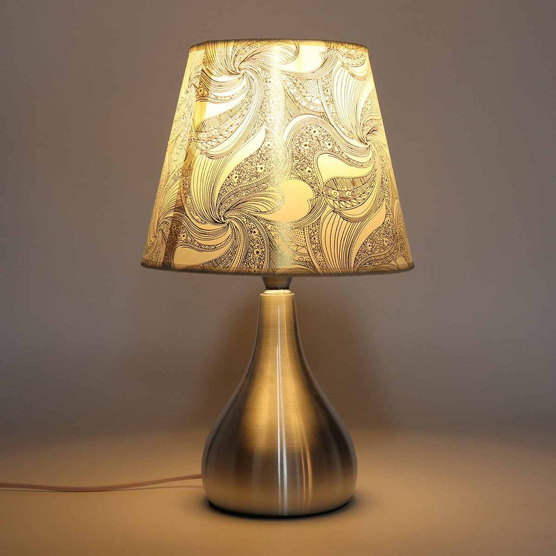 Elvin Brushed Aluminum Lamp - Villa and Oak