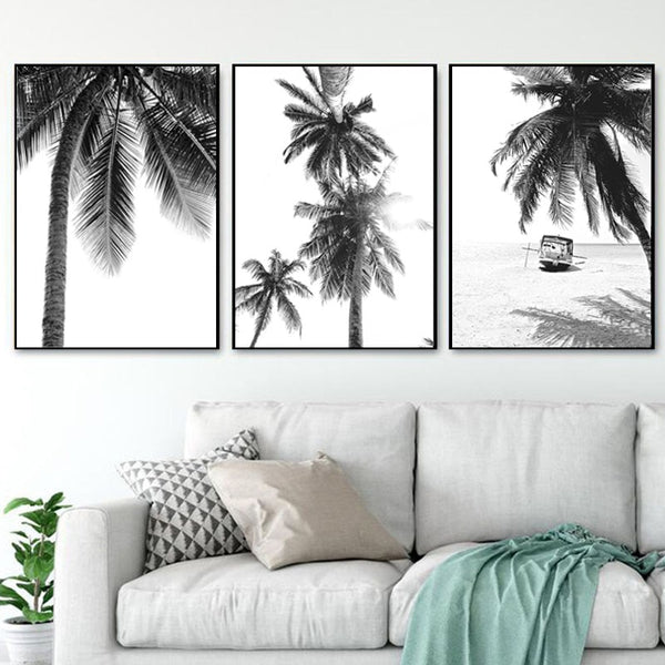 Palm Beach Stretched Canvas - Villa and Oak
