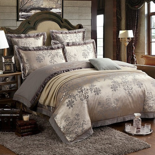 Roma Oro Duvet Set (Silk) - Villa and Oak