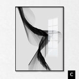 Nordic Abstract Lines Stretched Canvas - Villa and Oak