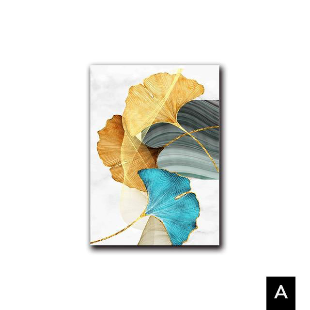 Soft Leaf Fall Stretched Canvas - Villa and Oak