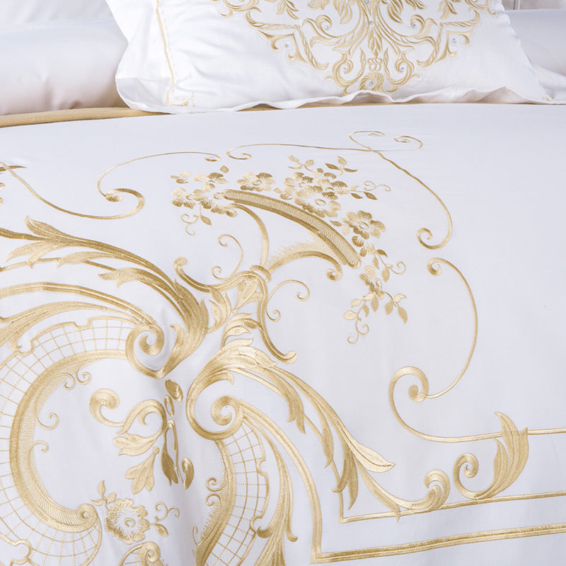 Ivy Gold Luxury Duvet Cover Set (Egyptian Cotton) - Villa and Oak