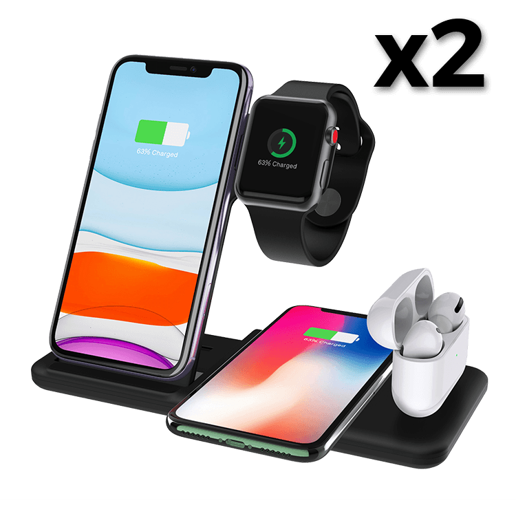 4-in-1 Wireless Charging Station x2