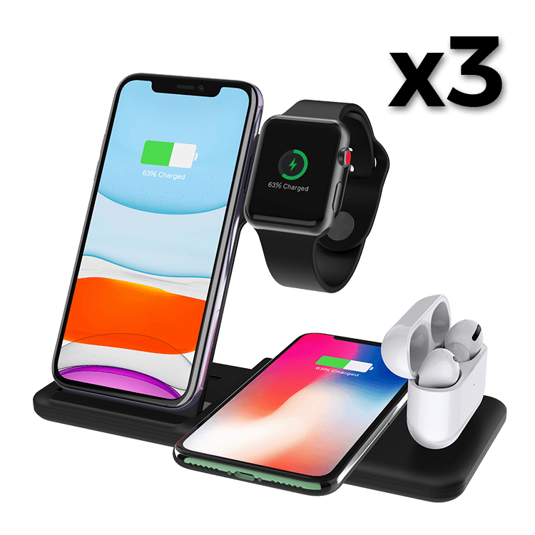 4-in-1 Wireless Charging Station x3