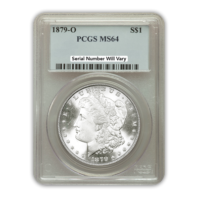1879 Morgan Silver Dollar New Orleans - PCGS MS64