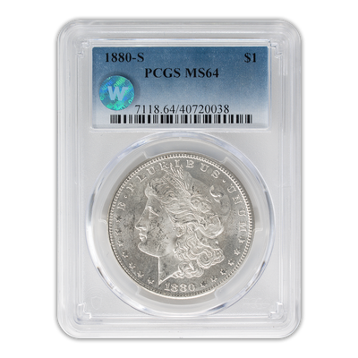 1880 Morgan Silver Dollar San Francisco - PCGS MS64 Sight White