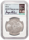 1884 Morgan Silver Dollar New Orleans - NGC MS63 Wayne Miller Signature Label