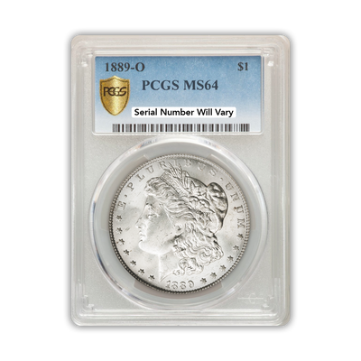 1889 Morgan Silver Dollar New Orleans - PCGS MS64