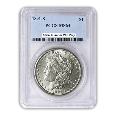 1891 Morgan Silver Dollar San Francisco - PCGS MS64
