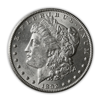 1892 Morgan Silver Dollar Carson City - Brilliant Uncirculated