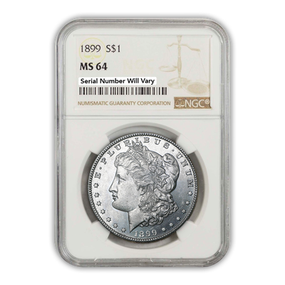 1899 Morgan Silver Dollar Philadelphia - NGC MS64