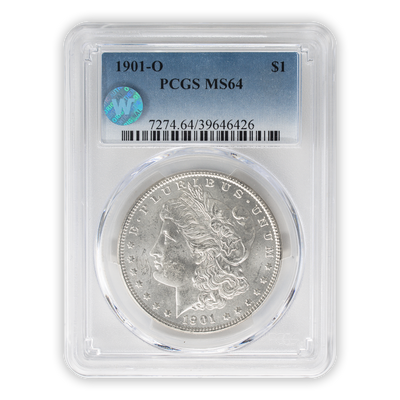 1901 Morgan Silver Dollar New Orleans - PCGS MS64 Sight White