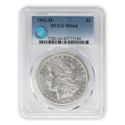 1902 Morgan Silver Dollar New Orleans - PCGS MS64 Sight White