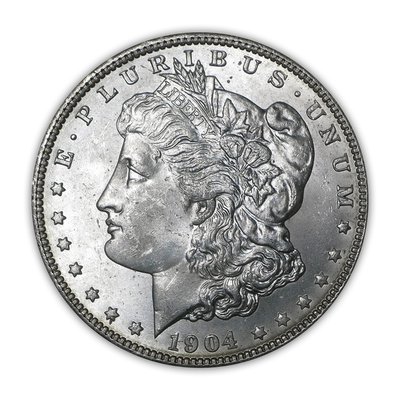 1904 Morgan Silver Dollar New Orleans - Brilliant Uncirculated