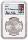 1924 Peace Silver Dollar Philadelphia - NGC MS64 Wayne Miller Signature Label