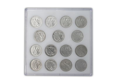 1941 - 1945 Walking Liberty Half Dollar PDS Slider Set
