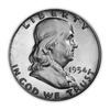 1954 Franklin 90% Silver Half Dollar Philadelphia - Proof