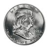 1958 Franklin 90% Silver Half Dollar Philadelphia - Uncirculated