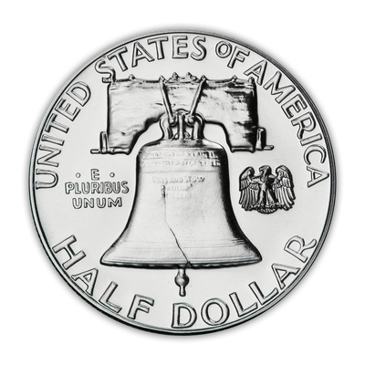 1960 Franklin 90% Silver Half Dollar Philadelphia - Proof