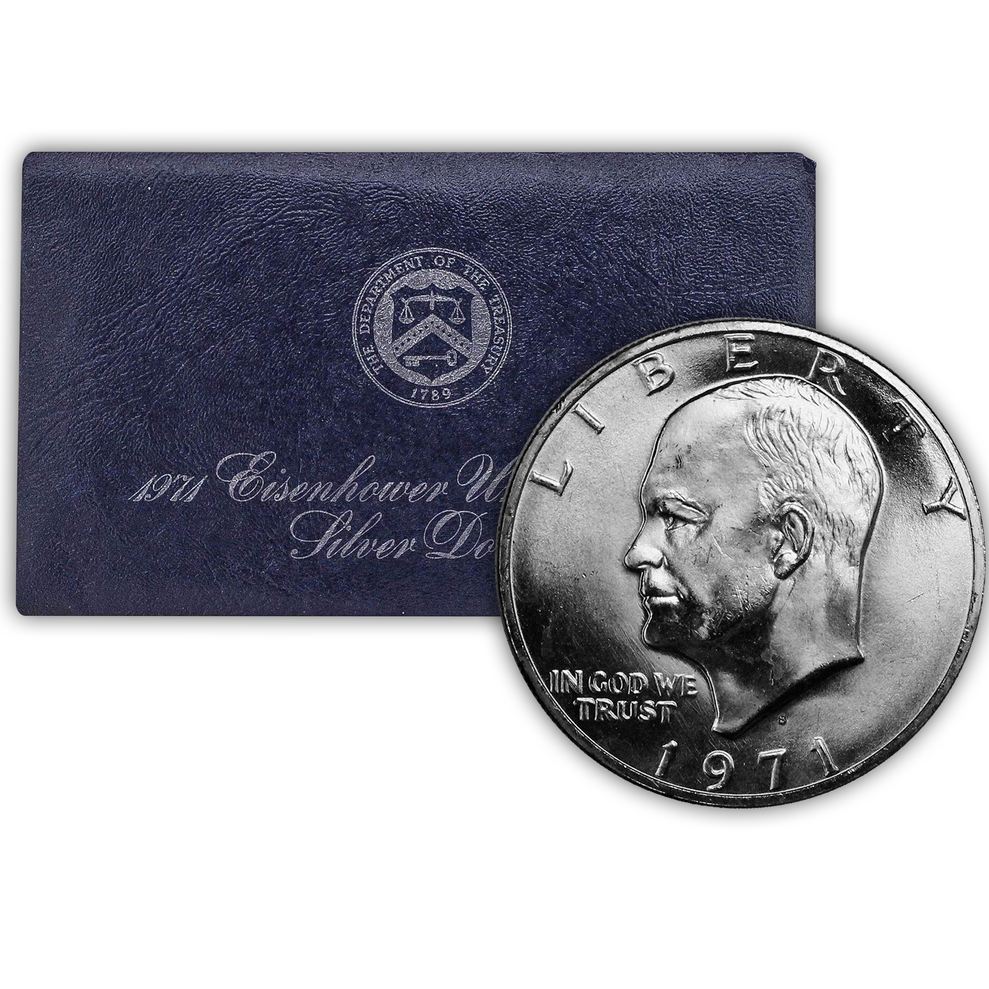 1971 Eisenhower 40% Silver Dollar San Francisco - Uncirculated Blue Pack (OGP)