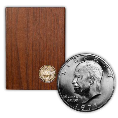1971 Eisenhower 40% Silver Dollar San Francisco - Proof Brown Pack (OGP)